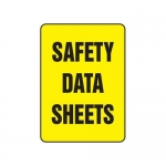 "Accuform MCHM517XT10, Safety Sign ""Safety Data Sheets"" Dura-Plastic"