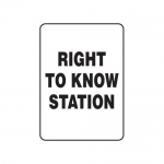 "Accuform MCHM520XT10, Safety Sign ""Right To Know Station"" Dura-Plastic"