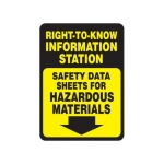 "Accuform MCHM523XT10, Safety Sign ""Safety Data Sheets…"" Dura-Plastic"