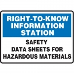 "Accuform MCHM526XT10, Safety Sign ""Safety Data Sheets…"" Dura-Plastic"