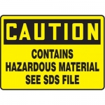 """Accuform MCHM600XT10, Safety Sign """"Contains Hazardous Material…"""""""