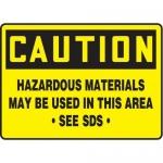 "Accuform MCHM603XF10, Caution Safety Sign ""Hazardous Materials…"""