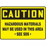 "Accuform MCHM603XT10, Caution Safety Sign ""Hazardous Materials…"""