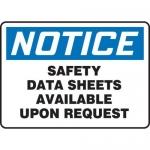 "Accuform MCHM801XV10, OSHA Notice Safety Sign ""Safety Data Sheets…"""