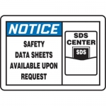 "Accuform MCHM806XT10, OSHA Notice Safety Sign ""Safety Data Sheets…"""