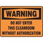 "Accuform MCLR300XT10, OSHA Warning Safety Sign ""Do Not Enter…"""