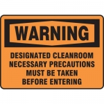 "Accuform MCLR301XF10, Warning Safety Sign ""Designated Cleanroom…"""
