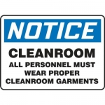 "Accuform MCLR802XT10, OSHA Safety Sign ""Cleanroom – All Personnel…"""