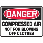 "Accuform MCPG006XT10, OSHA Danger Safety Sign ""Compressed Air…"""