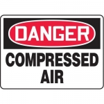 "Accuform MCPG018XT10, OSHA Danger Safety Sign ""Compressed Air"""