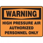 "Accuform MCPG304XF10, OSHA Warning Safety Sign ""High Pressure Air…"""