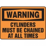 "Accuform MCPG322XT10, OSHA Warning Safety Sign ""Cylinders Must Be…"""