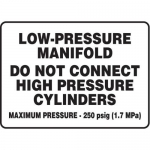 "Accuform MCPG507XT10, Safety Sign ""Low-Pressure Manifold…"""