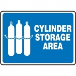 "Accuform MCPG520VP10, Safety Sign ""Cylinder Storage Area"" Plastic"