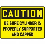 "Accuform MCPG607XT10, OSHA Caution Safety Sign ""Be Sure Cylinder…"""