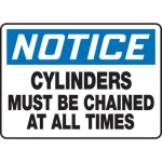 "Accuform MCPG801XT10, OSHA Notice Safety Sign ""Cylinders Must Be…"""