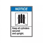 """Accuform MCPG807XT10, ANSI Notice Safety Sign """"Keep All Cylinders…"""""""