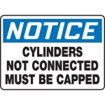 """Accuform MCPG814XF10, Notice Safety Sign """"Cylinders Not Connected…"""""""
