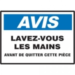 """Accuform MCRS802XT10, Bilingual French Sign """"Wash Hands"""" Dura-Plastic"""