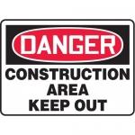 "Accuform MCRT011XL10, OSHA Danger Safety Sign ""Construction Area…"""