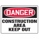 "Accuform MCRT012XF10, OSHA Danger Safety Sign ""Construction Area…"""