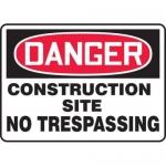 "Accuform MCRT026VP10, OSHA Danger Safety Sign ""Construction Site…"""