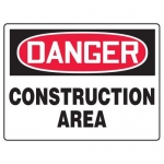 "Accuform MCRT100XL10, OSHA Danger Safety Sign ""Construction Area"""