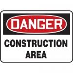 "Accuform MCRT106XL10, OSHA Danger Safety Sign ""Construction Area"""