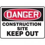 "Accuform MCRT108XL10, OSHA Danger Safety Sign ""Construction Site…"""