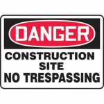 """Accuform MCRT122XF10, OSHA Danger Safety Sign """"Construction Site…"""""""