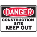 """Accuform MCRT125XL, Danger Safety Sign """"Construction Site – Keep Out"""""""