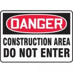 "Accuform MCRT128XF10, OSHA Danger Safety Sign ""Construction Area…"""