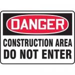 "Accuform MCRT128XL10, OSHA Danger Safety Sign ""Construction Area…"""