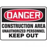 "Accuform MCRT131XL10, OSHA Danger Safety Sign ""Construction Area…"""
