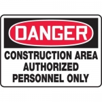"Accuform MCRT133XF10, OSHA Danger Safety Sign ""Construction Area…"""