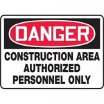 "Accuform MCRT134XF10, OSHA Danger Safety Sign ""Construction Area…"""