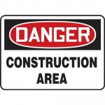 "Accuform MCRT135XL10, OSHA Danger Safety Sign ""Construction Area"""