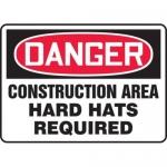 "Accuform MCRT136XL10, OSHA Danger Safety Sign ""Construction Area…"""