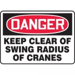 "Accuform MCRT141XT10, OSHA Danger Safety Sign ""Keep Clear Of Swing…"""