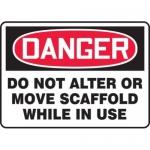 """Accuform MCRT152XT10, OSHA Danger Safety Sign """"Do Not Alter…"""""""