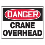 "Accuform MCRT210XF10, OSHA Danger Safety Sign ""Crane Overhead"""