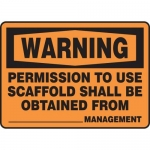 "Accuform MCRT303XT10, OSHA Warning Safety Sign ""Permission to Use…"""