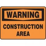 "Accuform MCRT309XL10, OSHA Warning Safety Sign ""Construction Area"""