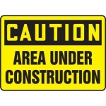 """Accuform MCRT609XL10, 10″ x 14″ Safety Sign """"Area Under Construction"""""""