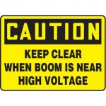 "Accuform MCRT610VP10, 10″ x 14″ Safety Sign ""Keep Clear When Boom …"""