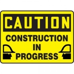 """Accuform MCRT613XL10, 10″ x 14″ Safety Sign """"Construction In Progress"""""""