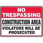 "Accuform MCRT912XL10, 10″ x 14″ Safety Sign ""No Trespassing …"""