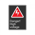 "Accuform MCSA143VP10, 14″ x 10″ Safety Sign ""Danger! High Voltage"""