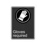 """Accuform MCSA577XP10, 14″ x 10″ Safety Sign """"Gloves Required"""""""