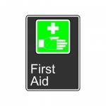 "Accuform MCSA940XT10, 14″ x 10″ Safety Sign ""First Aid"""